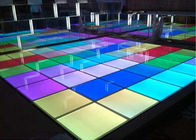 Ip50 Transparent Glass Rgb Led Dance Floor For Wedding Party Clun Decora