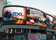 P6 Wall Mounted Curved Outdoor Led Advertising Screens , Led Video Wall Screen