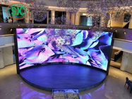 Curved Advertising LED Screens , HD Curtain LED Display P2.5 Nova System RGB 3 In 1