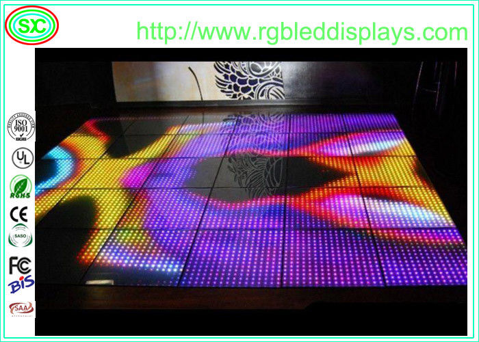 Interactive Sensitive Charming Acrylic Led Disco Dance Floor Panel Rgb Change Color