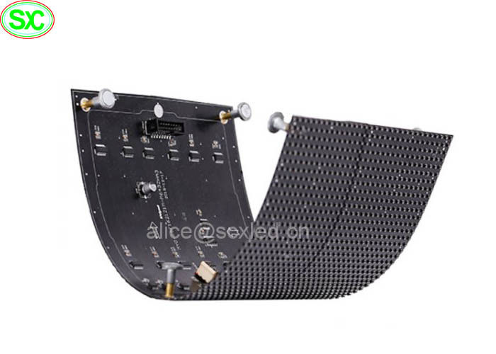 Indoor Flexible Curve Soft Video LED Display Module with Magnet front service