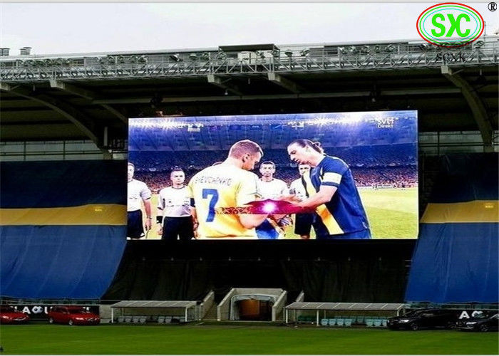 high brightness p10 large stadium led display  to broadcast sports video