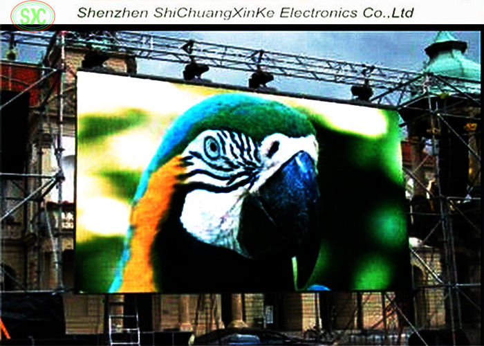 Lightweight Outdoor Full Color LED Display Waterproof PH8 Pixel Pitch 8mm Outdoor Advertising LED Display Screen
