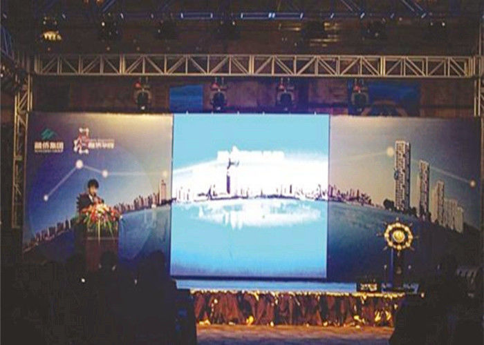 Indoor HD Full Color Led Large Screen Display , Led Stage Screen Rental