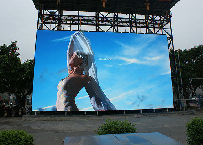 SMD IP65 Outdoor Full Color Led Display Viedo Die Casting Aluminum Cabinet