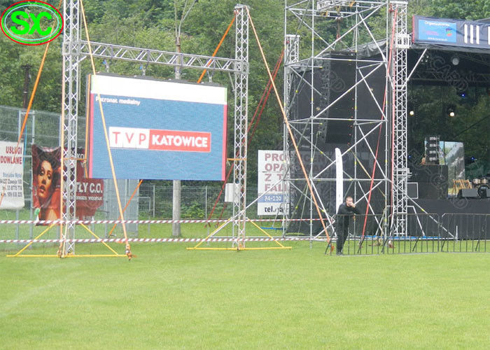 High Definition Stadium Hanging Led Display Billboard / Outdoor Smd Led Screen