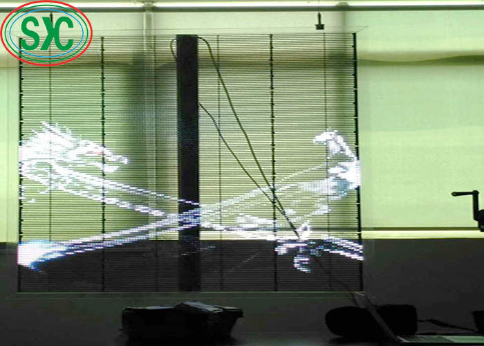 High Definition Semi Outdoor Transparent LED Screen 1R1G1B SMD2121 8192 Dots