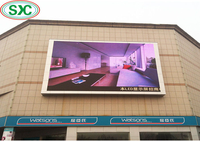 Full Color SMD Outdoor Full Color LED Display P6 27777 Dots / Sqm Rgb 3 In1