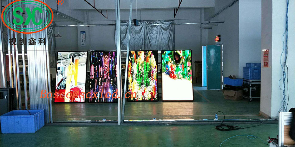AC85-264V LED Poster Display Board 3mm Pitch Portable Poster Showing 4cm Thickness