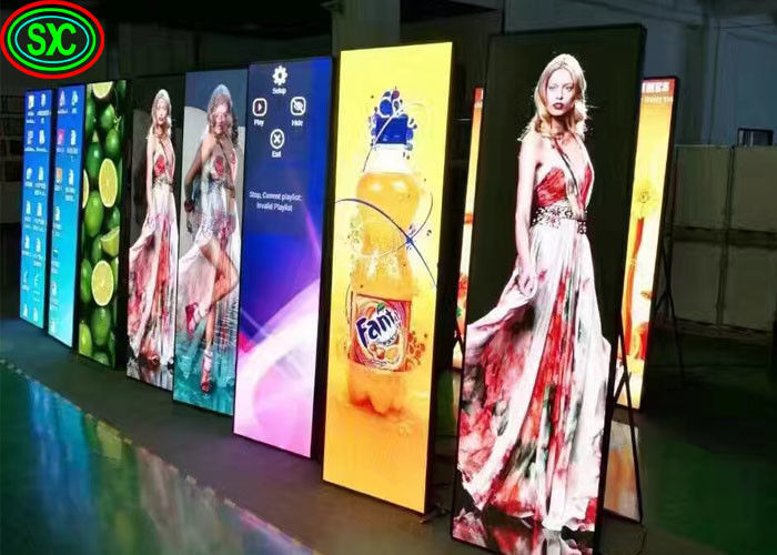Smart Digital Advertising Led Display Poster Standing Magic LED Screen P2.5