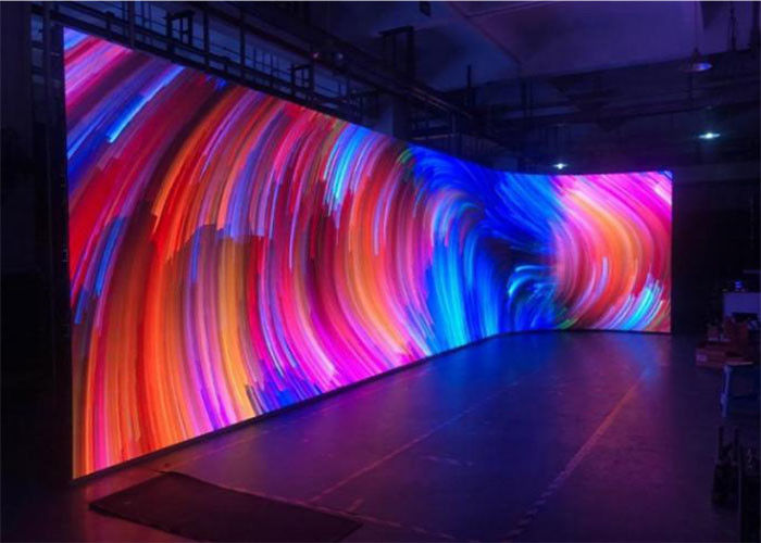 High Flexibility Curved Led Stage Screen , HD Curtain Led Screen Full Color P4
