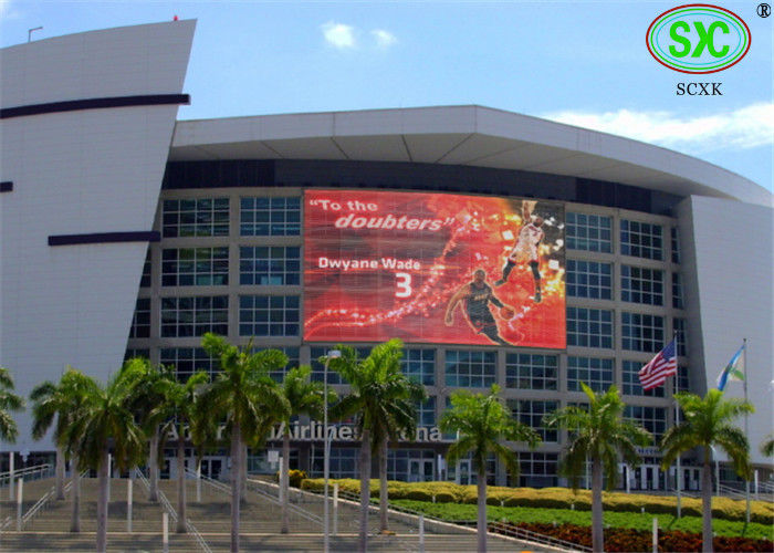 Live Broadcast outdoor smd led display RGB Color P10 Stadium LED Display Video Wall with Static Scan