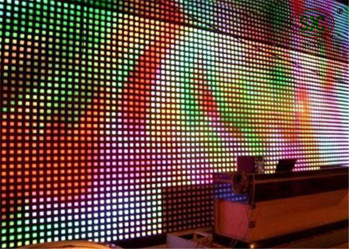 Advertising media P25 Curtain LED Display , DIP 346 High definition LED screen