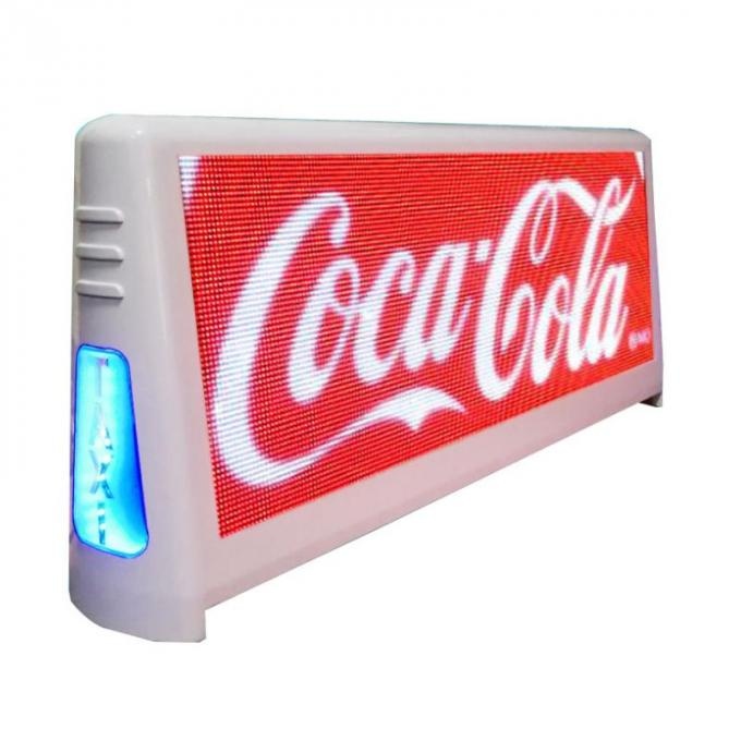 LED 3G/4G Wifi taxi roof led display/led screen car advertising/taxi top sign for car advertising